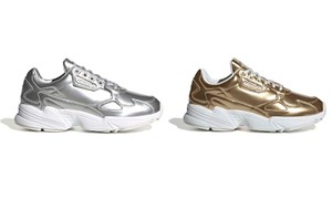 Picture of adidas Originals' Falcon Sneaker Has Landed in Metallic Gold and Silver
