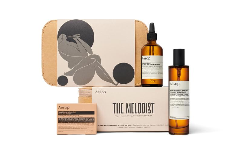 Aesop Of Muse and Myth Gift Kit The Melodist Soap Slab Toilet Drops Room Spray