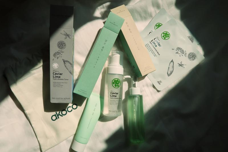 k-beauty skincare vegan akoco set too cool for school apieu toners cleansing oils masks creams clean