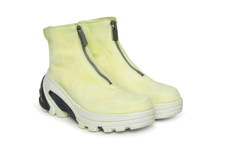 1017 ALYX 9SM x Guidi Boot Front Zip Vibram Sole Yellow