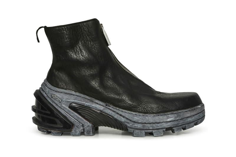 1017 ALYX 9SM x Guidi Boot Front Zip Vibram Sole Black