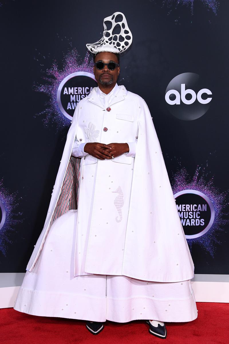 american music awards amas best celebrity red carpet looks billy porter thom browne white