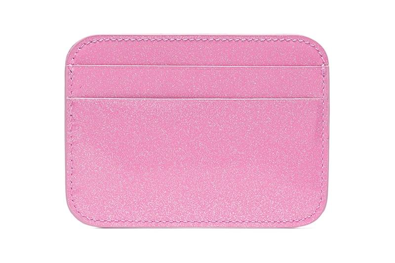 Balenciaga BB Glitter Card Holder Pink Leather