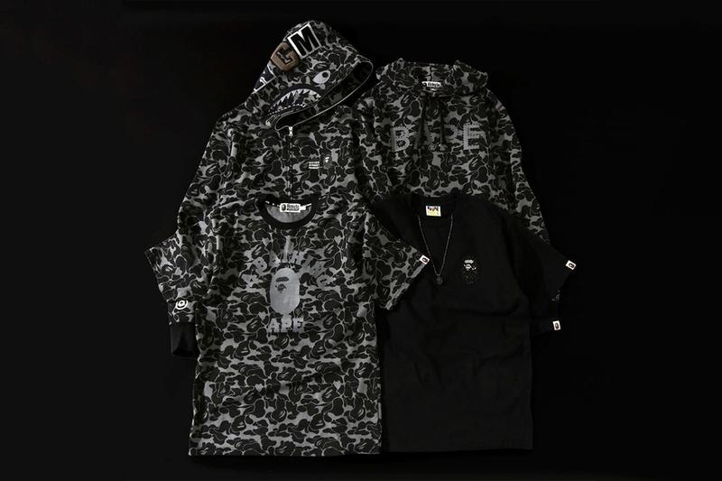 BAPE Dover Street Market London Anniversary Capsule Collection Camouflage Ape Head Graphic Print Logo Range