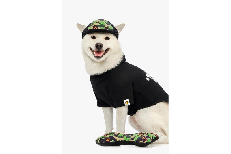BAPE Baby Milo Dog Fall Winter 2019 Collection Lookbook Sweater Black Hat Camo