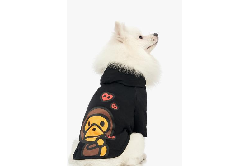 BAPE Baby Milo Dog Fall Winter 2019 Collection Lookbook Hoodie Black