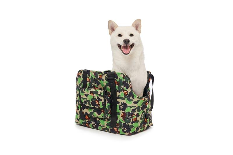 BAPE Baby Milo Dog Fall Winter 2019 Collection Lookbook Bag Carrier Camo Green