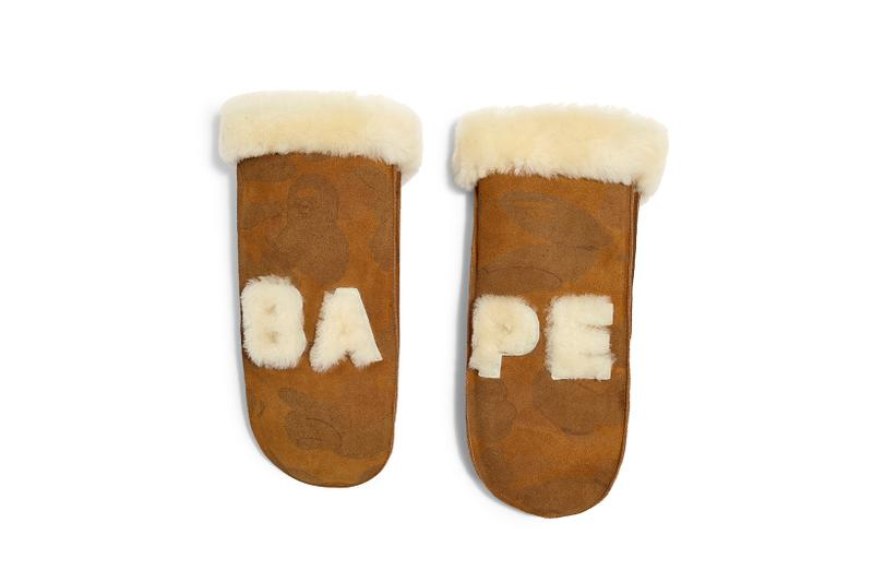BAPE x UGG Fall Winter 2019 Collection Mittens
