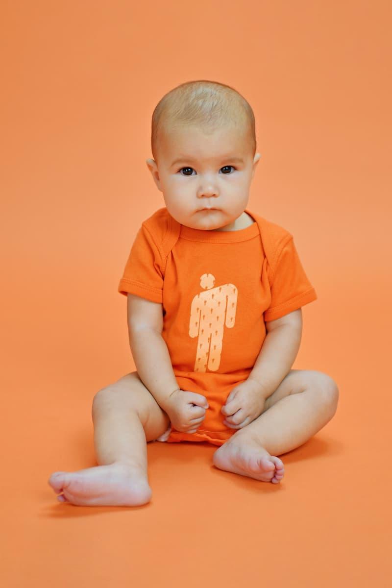 Billie Eilish Kids Collection Blōhsh Onesie Orange