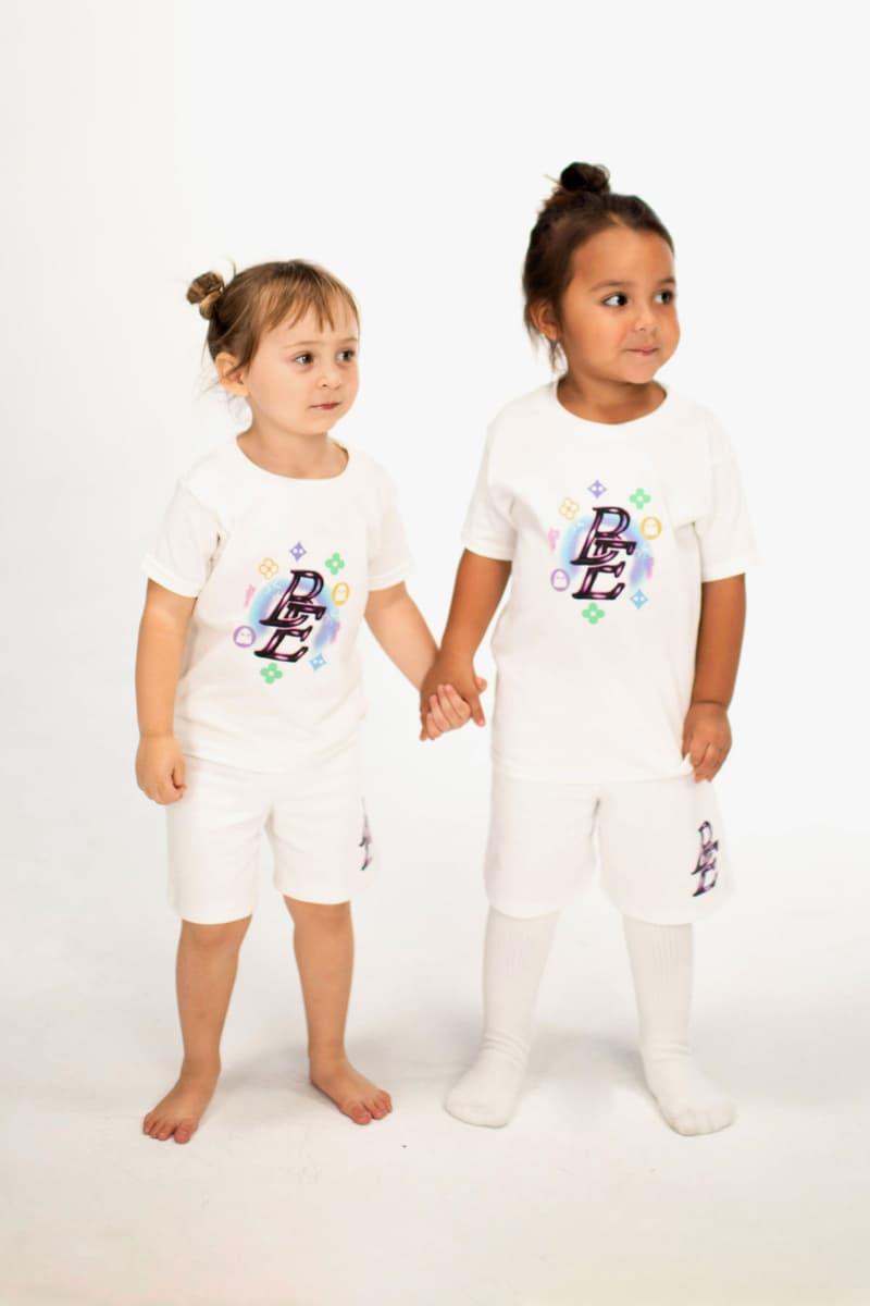 Billie Eilish Kids Collection Blōhsh T-Shirt Shorts Set White