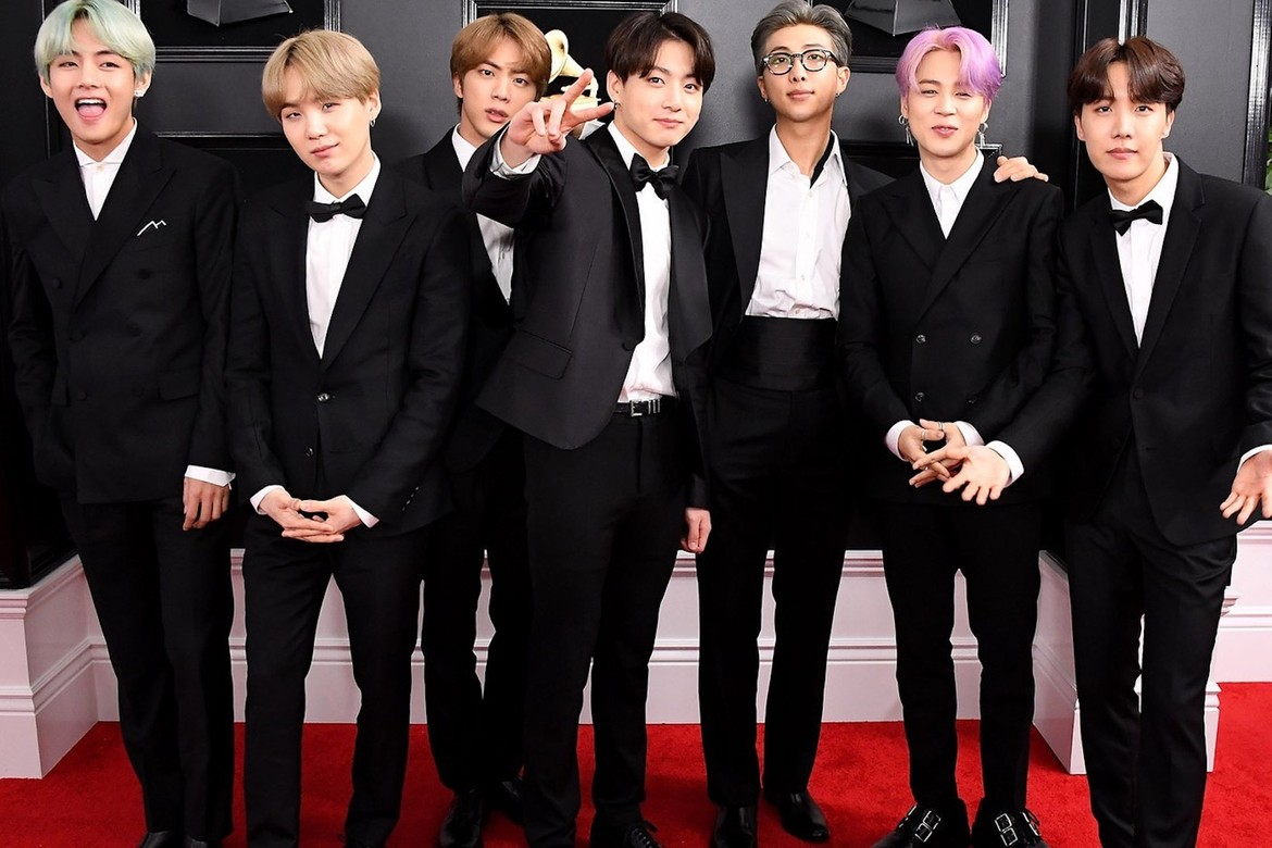 bts 2019 grammys outfits display at museum hypebae bts 2019 grammys outfits display at