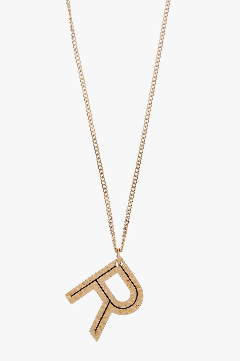 Burberry Letter Pendant Necklaces Gold Jewelry Collection Luxury Chain