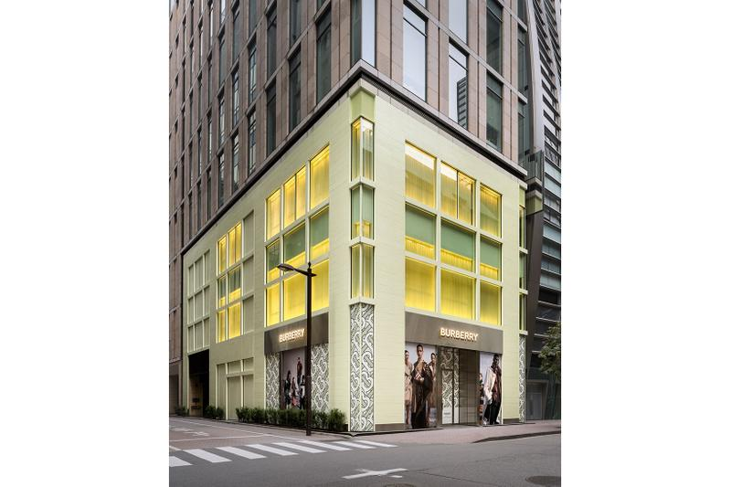 burberry riccardo tisci ginza tokyo flagship store opening japan