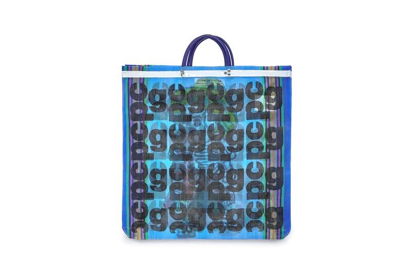 COMME des GARÇONS Monogram Tote Bag Blue