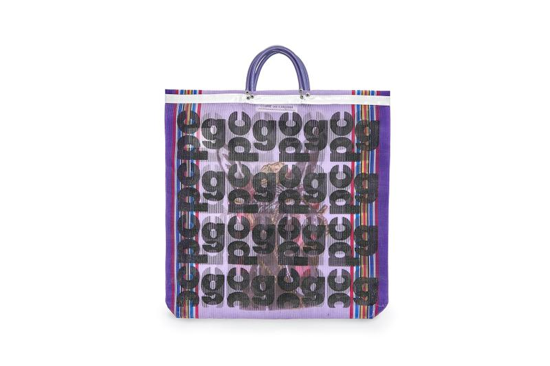 COMME des GARÇONS Monogram Tote Bag Purple