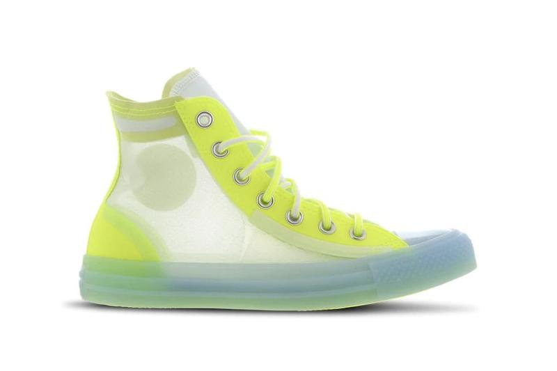 Converse Chuck Taylor Translucent Neon Yellow Red Sneaker Shoe Plastic Upper