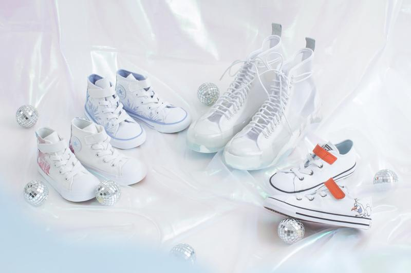 converse disney frozen 2 chuck taylor all star 70 womens kids sneakers white pink purple elsa olaf