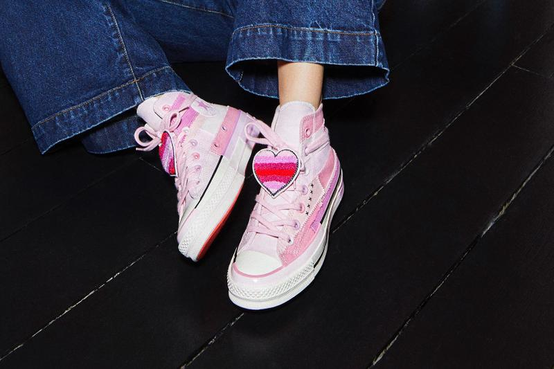 converse millie bobby brown collaboration chuck taylor chuck 70 sneakers black pink white stranger things actress shoes footwear