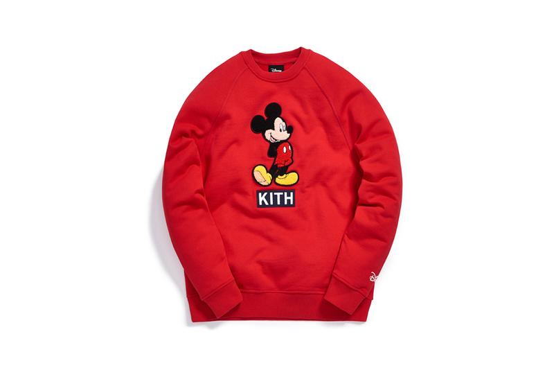Disney x KITH Collection Mickey Mouse Crewneck Red