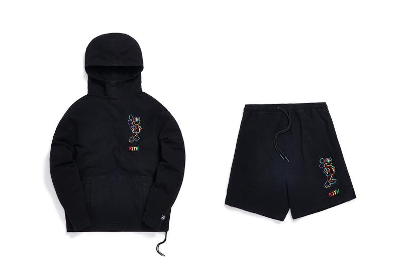 Disney x KITH Collection Mickey Mouse Hoodie Shorts Black