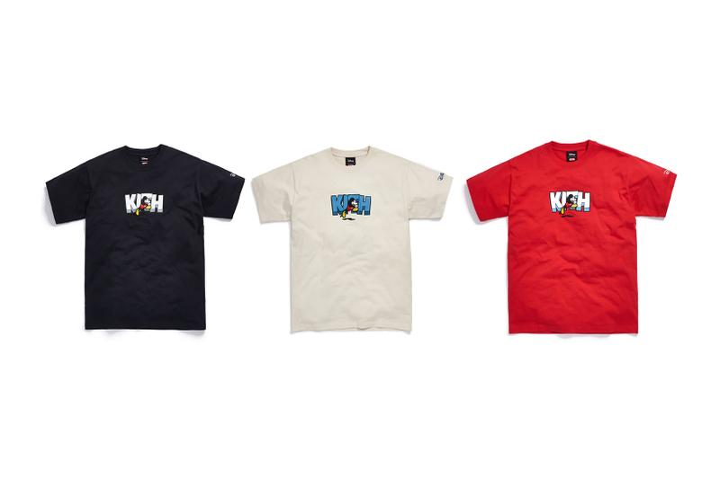 Disney x KITH Collection Mickey Mouse T-Shirt Black White Red