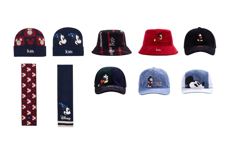 Disney x KITH Collection Mickey Mouse Cap Bucket Hat Scarf