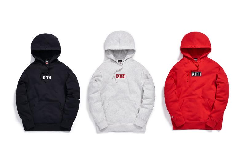 Disney x KITH Collection Box Logo Hoodie Black Grey Red