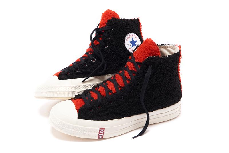 Disney x KITH x Converse Mickey Mouse Chuck 70 Sherpa Black Red