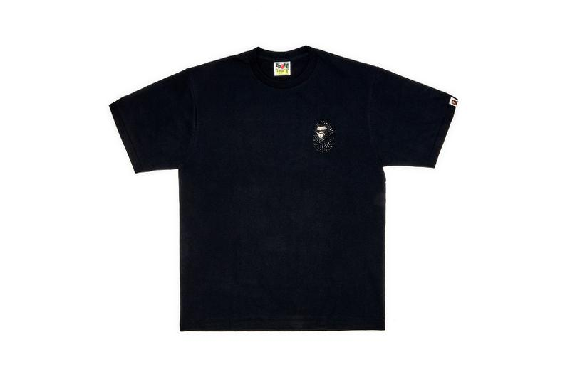 Dover Street Market Monochromarket Anniversary Collection BAPE T-Shirt Black