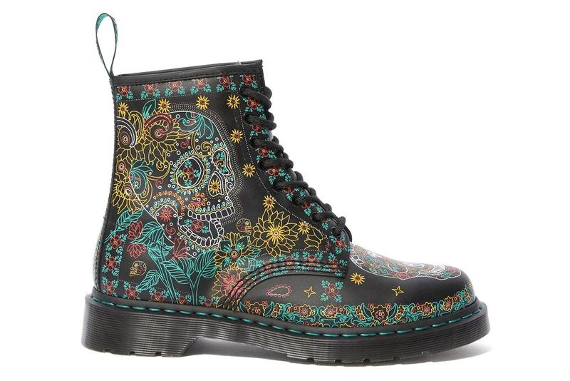 Dr. Martens Day of the Dead Skull Floral 1460 Boots Dia De Muertos