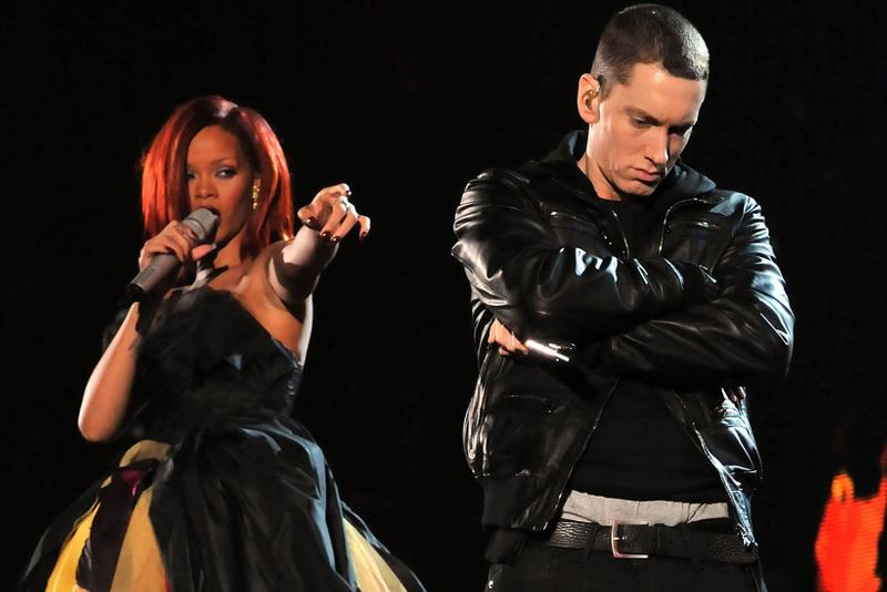 eminem rihanna chris brown assault abuse leak song track verse music singer rapper