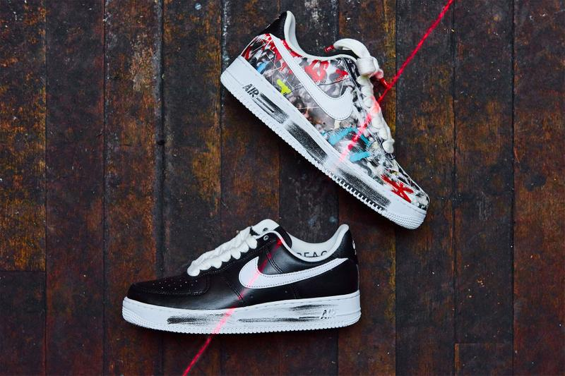 g-dragon peaceminusone nike air force 1 07 paranoise sneakers collaboration big bang hidden artwork underneath