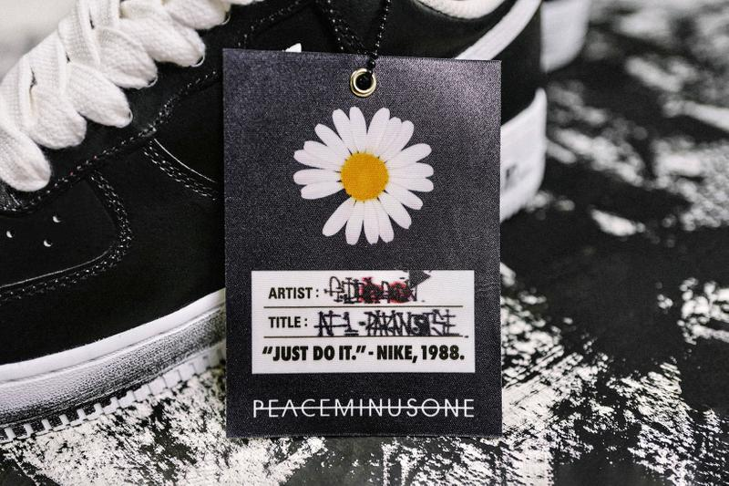 g dragon peaceminusone nike air force 1 07 paranoise sneakers collaboration black white shoes footwear sneakerhead