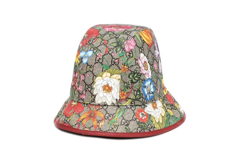 Gucci Logo Monogram Floral Print Hat Accessory Flowers Graphic Colorful