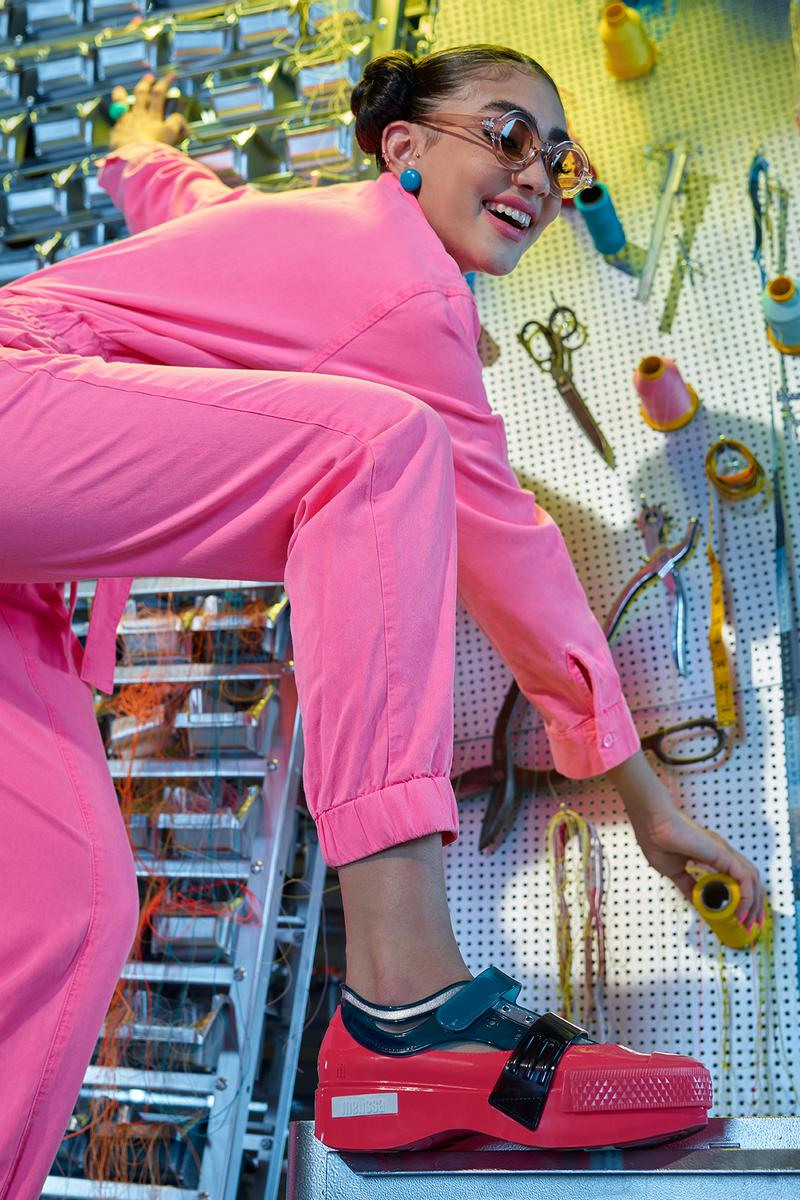 Helen Kirkum x Melissa Collection Campaign Platform Pink Black Blue