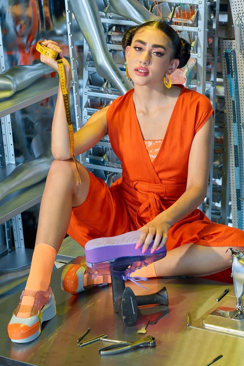 Helen Kirkum x Melissa Collection Campaign Platform White Green Purple Orange