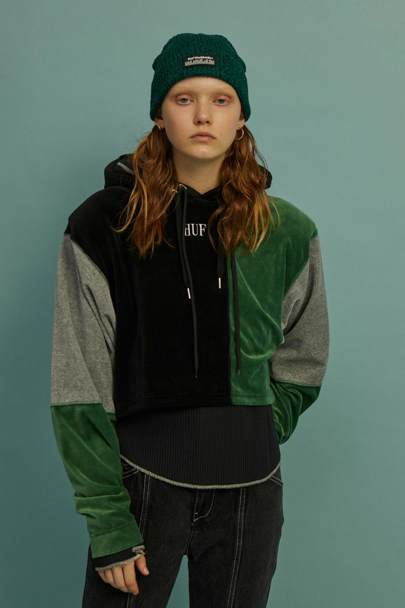 HUF Holiday 2019 Women's Collection Lookbook Piet Multi Pullover Hoodie Green