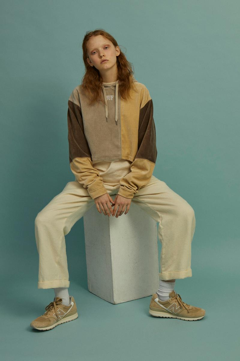 HUF Holiday 2019 Women's Collection Lookbook Piet Multi Pullover Sweater Beige