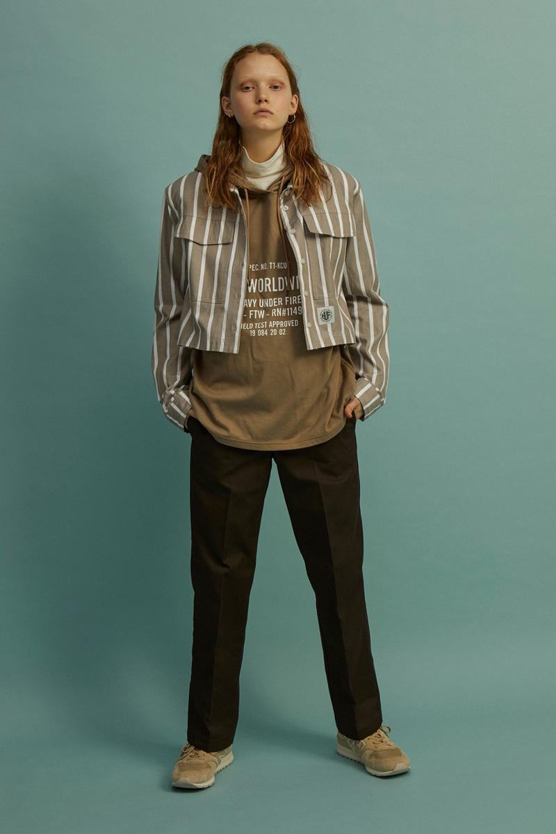 HUF Holiday 2019 Women's Collection Lookbook Regional Oxford Shirt Beige
