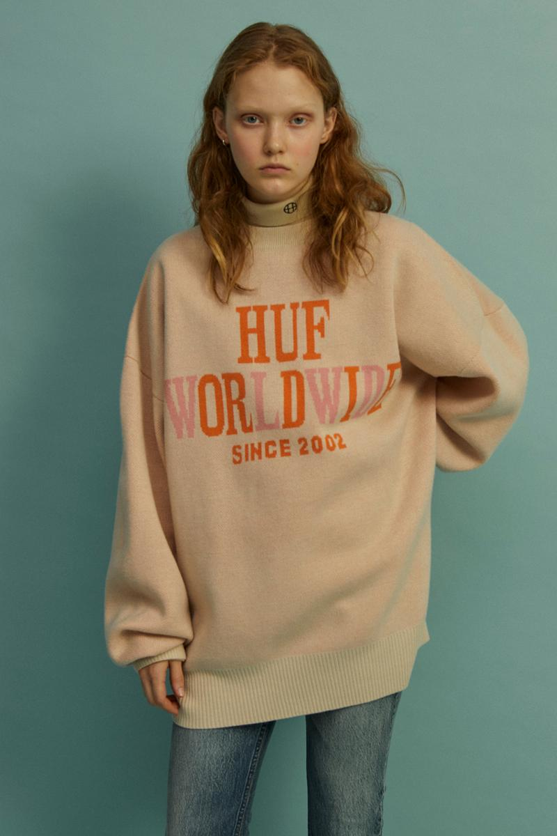HUF Holiday 2019 Women's Collection Lookbook Die Sweater Ivory