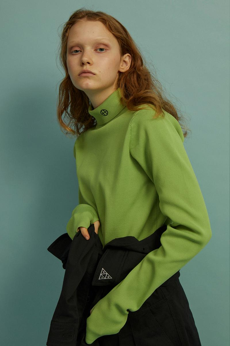HUF Holiday 2019 Women's Collection Lookbook Die Circle-H High Neck Rib Top Green