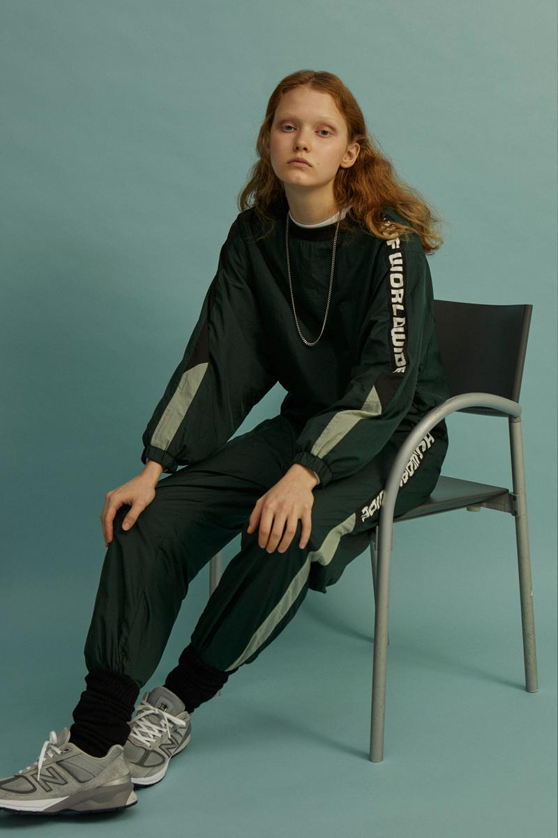 HUF Holiday 2019 Women's Collection Lookbook Lewis Nylon Crewneck Pant Dark Green