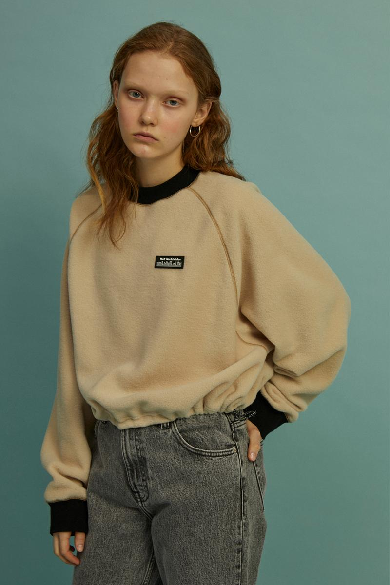 HUF Holiday 2019 Women's Collection Lookbook Taos Raglan Crew Neck Sweater Beige