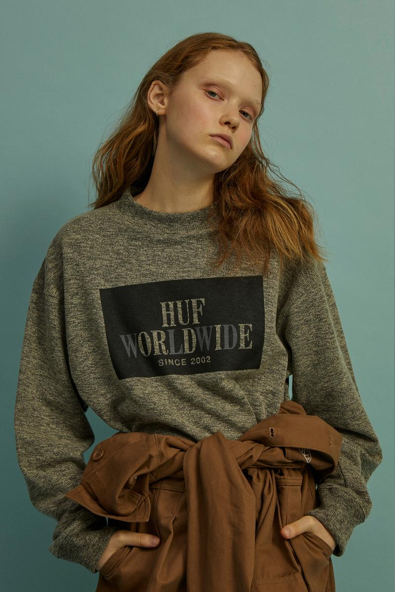 HUF Holiday 2019 Women's Collection Lookbook Die Long Sleeve Top Grey