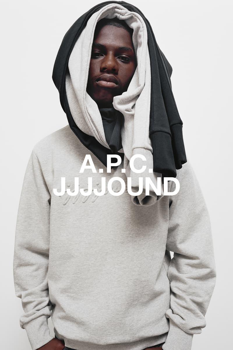 JJJJound x A.P.C. Collection Lookbook Justin Sweatshirt Pale Heather Grey