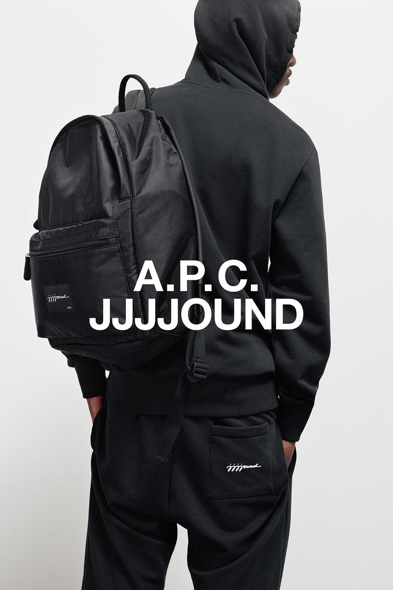 JJJJound x A.P.C. Collection Lookbook Backpack Black