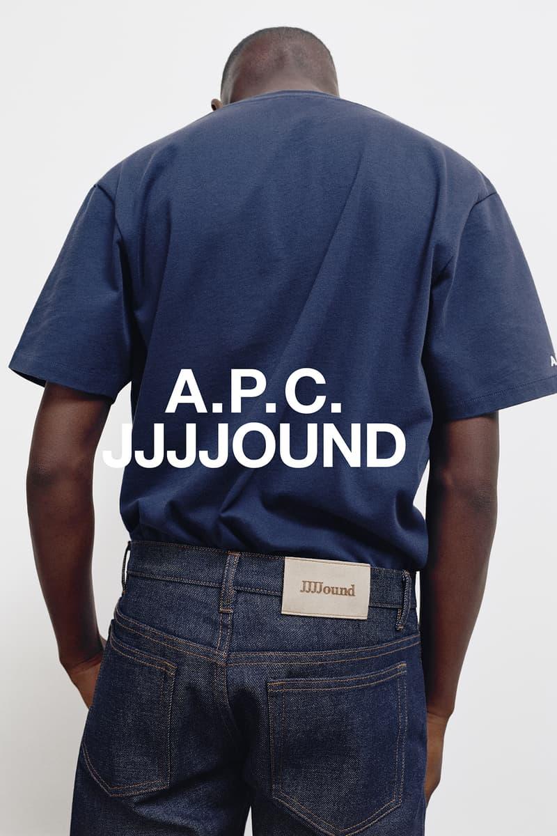 JJJJound x A.P.C. Collection Lookbook T-Shirt Dark Navy Blue