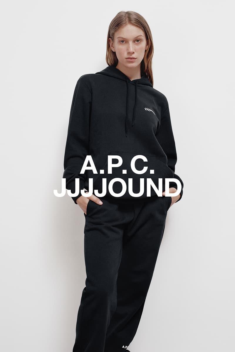 JJJJound x A.P.C. Collection Lookbook Justin Hoodie Black