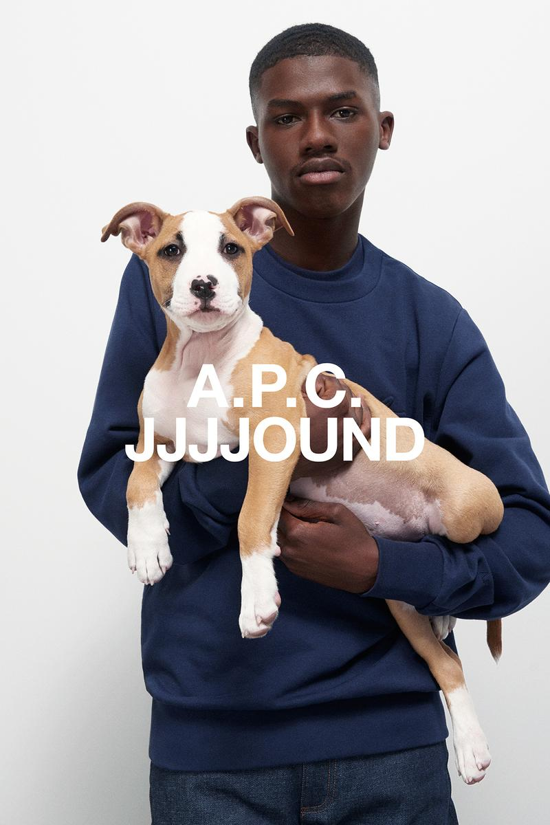 JJJJound x A.P.C. Collection Lookbook Justin Sweatshirt Dark Navy Blue