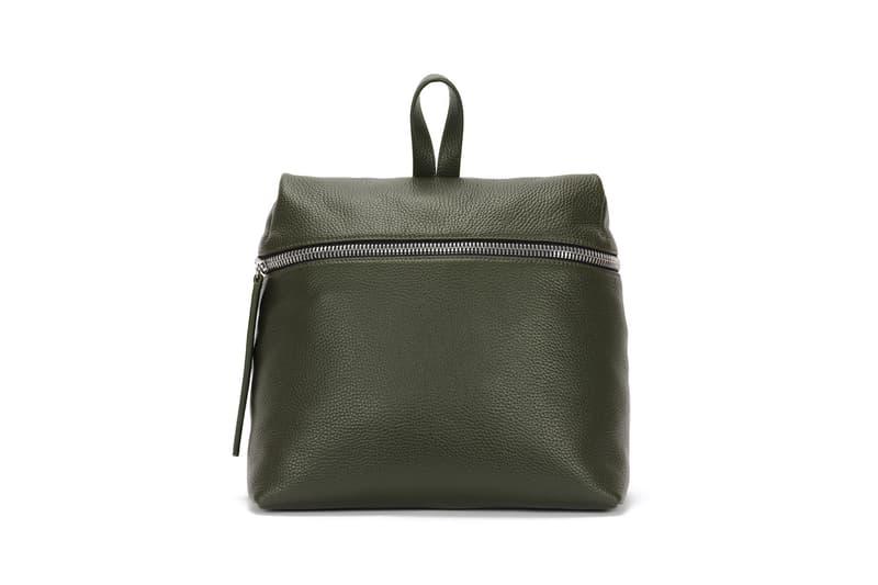 KARA Pebble Leather Backpack Nori